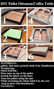 Diy Ottoman Coffee Table Diy Pallet Ottoman Coffee Table Pictures Photos And Images For