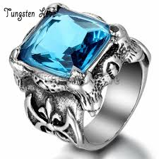 gothic ruby rings images Vintage style gothic stainless steel cubic zirconia antique rings jpg