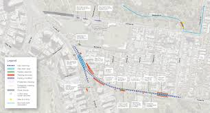 melbourne tram map toorak road and st kilda road tram upgrades construction in