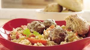 turkey meatballs in creamy mushroom meatballs and creamy rice skillet supper recipe bettycrocker com