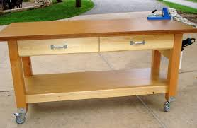 rolling workbench diy bench decoration