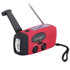 hand crank led light new protable solar radio hand crank self powered phone charger 3 led