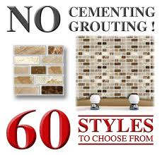 Brilliant Delightful Self Stick Backsplash Tiles Peel And Stick - Peel and stick wall tile backsplash