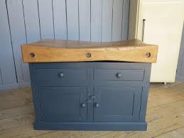 reclaimed antique butchers blocks and central islands
