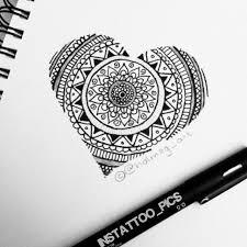 mandala heart tattoo design on instagram