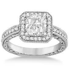 what is milgrain milgrain square halo diamond engagement ring 14kt white gold 0 32ct