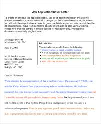 6 sample professional cover letter free sample example format