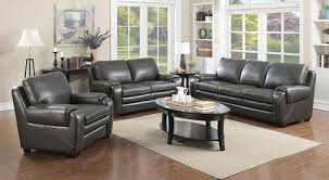 Grey Leather Living Room Set Matera Living Room Set Furniture