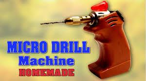 how to make mini drill machine at home diy homemade micro drill