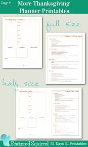 day 7 more thanksgiving planner printables scattered squirrel