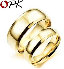cheap jewelry rings images Oem simple gold color couple rings casual l stainless full steel jpg