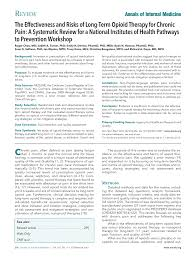 effectiveness and risks of long term opioid therapy for chronic