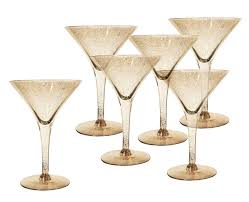 martini glass with umbrella dorothy c thorpe gold fleck martini cocktail glasses at 1stdibs