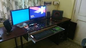 build complete built my pc into my glass top aluminum desk buildapc