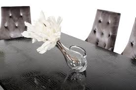 black lacquer dining room set modern high gloss lacquer dining