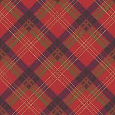 fairburn red plum tartan check wallpaper