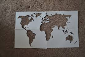Canvas Map Of The World by World Map On A Canvas Cheaply Crafty