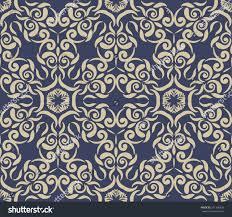 vintage blue background white ornamental pattern stock vector