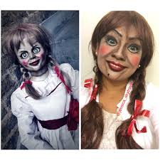 annabelle doll makeup costume halloween pinterest annabelle