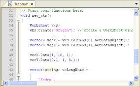 tutorial vector c help online tutorials introduction to origin c and code builder