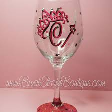wine glass with initials best glitter initials products on wanelo