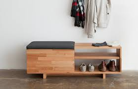 gorgeous rustic storage bench with for entryway throughout