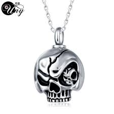 ashes pendant trendy stainless steel skull pet urn ashes pendant perfume bottle