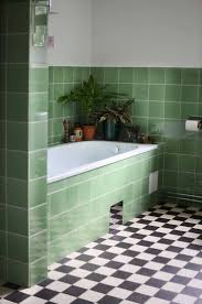 bathroom gray green subway tile dark blue tile bathroom green