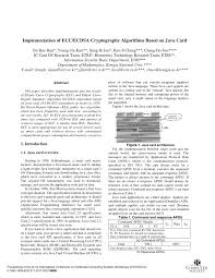 si e auto r lementation implementation of ecc ecdsa cryptography pdf available