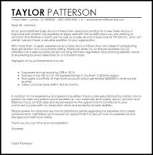 sales account executive cover letter sample livecareer