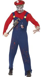 Bandit Halloween Costume Zombie Neighborhood Plumber Costume Zombie Costume Ideas Mens
