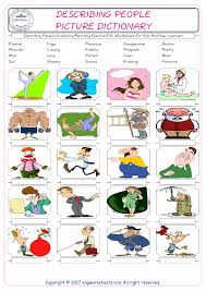 Esl Vocabulary Worksheets Describing People Free Esl Efl Worksheets Made By Teachers For