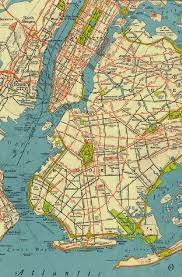 Map Metro New York by New York 1941 Manhattan Brooklyn