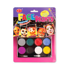 non toxic 8 color body and face paint halloween make up for kids