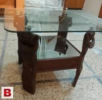 wooden center table with glass top rawalpindi