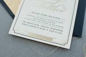 blakely matthew u0027s glamorous art deco wedding invitations