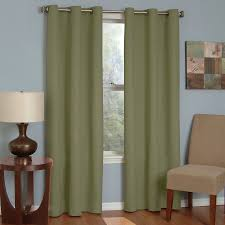 shop eclipse microfiber 63 in moss polyester grommet blackout