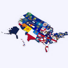 United States Political Map by Us Political Map With Counties 3d Cgtrader