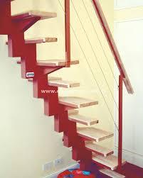 alternated treads stairs design space saving stairs