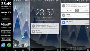 android lock screen notifications system info and one click actions from the lollipop lock screen