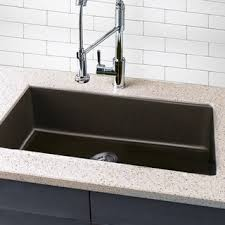 Highpoint Collection Granite Composite Black Undermount Kitchen - Kitchen sinks granite composite