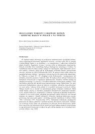 regulatory wzrostu i rozwoju roślin kierunki badań w polsce i na