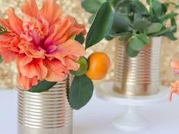Tin Vases Diy Upcycled Tin Cans Turn Them Into Vases