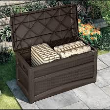 decking suncast deck boxes keter rockwood deck box 150 gallon