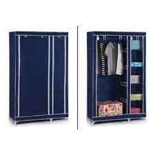 Clothes Cupboard Vinsani Double Canvas Wardrobe Clothes Cupboard Storage W110cm X