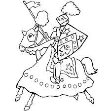 chevalier en ligne gratuit à imprimer