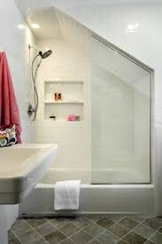 Small Attic Bathroom Sloped Ceiling by 35 Functional Attic Bathroom Ideas Attic Finish Out Pinterest