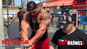 Rene Meme Bodybuilding - morgan aste trains in the pit on muscle beach youtube