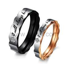 custom rings with images Titanium steel couples promise rings with custom engraving jpg