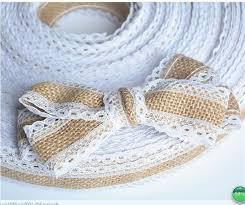 lace ribbon in bulk bulk pack of 5 burlap hessian 5m vintage wedding lace ribbon buy